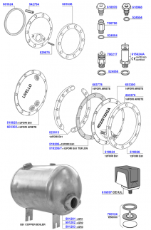 Boiler components and e61 boilers